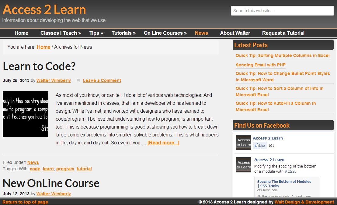 access2learn.com website