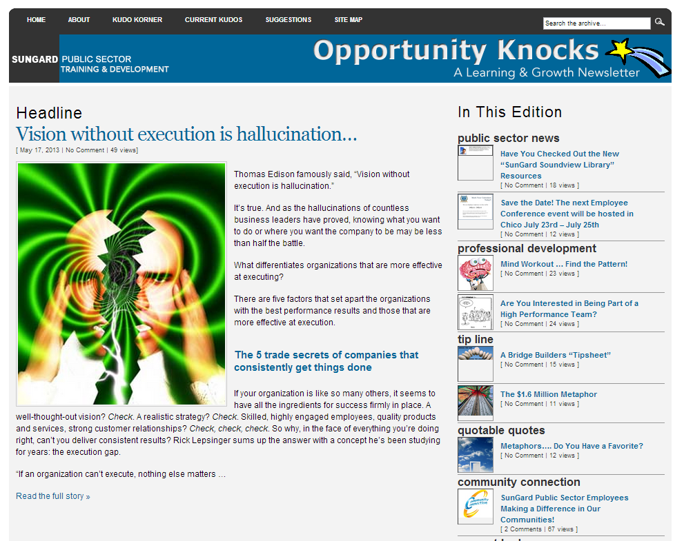 opportunity knocks website