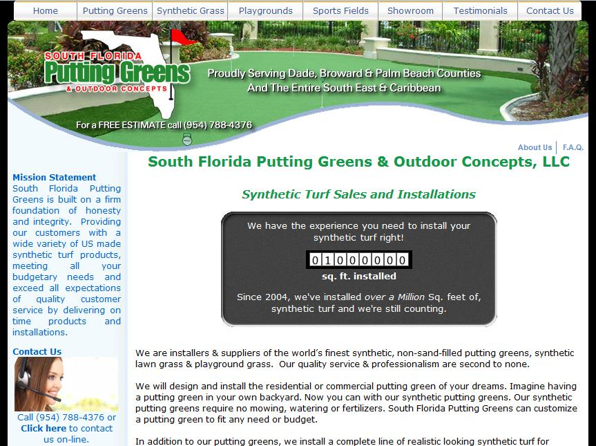 south florida putting greens website